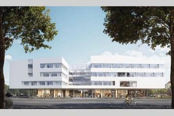 Visualisation des neuen Campus Gebäudes